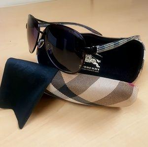 Authentic Burberry Aviator Black Metal Sunglasses